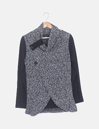 Jersey combinado gris jaspeado