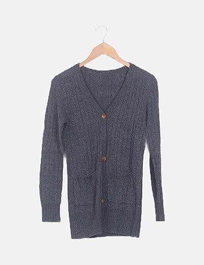 Chaqueta lana gris