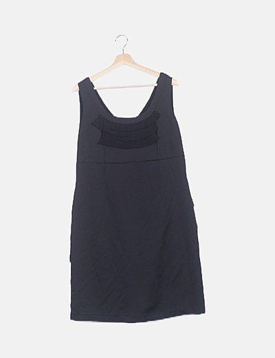 Vestido mini volantes negro