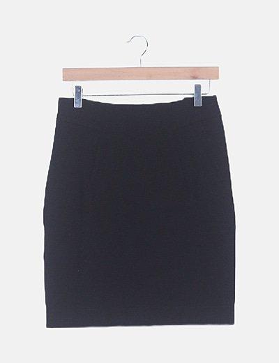Mini falda negra básica