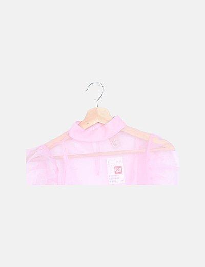 Blusa organza rosa