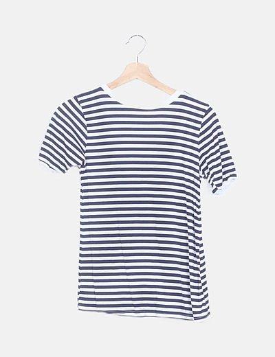 Camiseta rayas azul marino