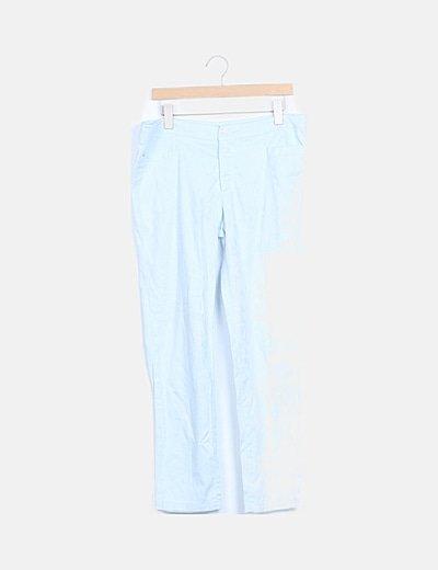 Pantalón azul claro estampado