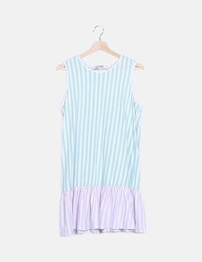 Vestido rayas bicolor