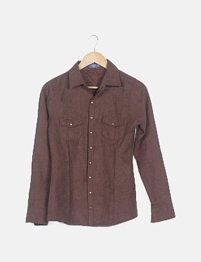 Camisa marrón antelina