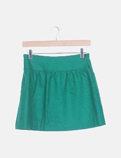 Mini falda paño verde
