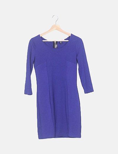 Vestido mini azul klein