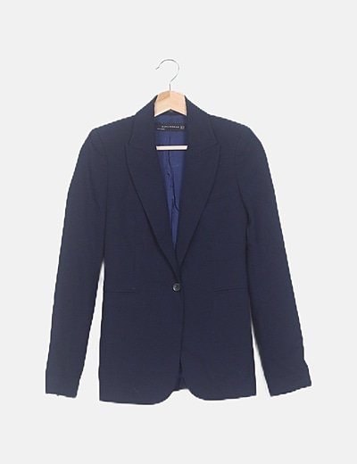 Chaqueta blazer azul marina