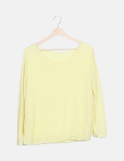 Jersey amarillo punto manga larga