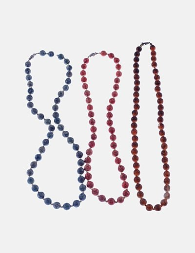 Pack tres collares bolas