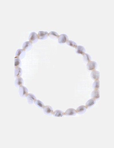 Conjunto pendientes y pulsera perlas