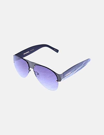 Gafas de sol montura metalizada