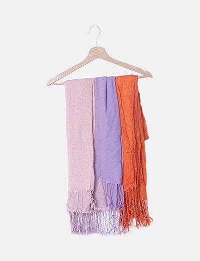 Conjunto de foulard combinado