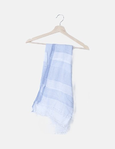 Foulard de rayas blanco y azul