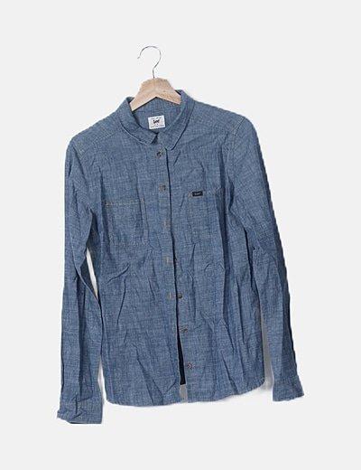 Camisa efecto denim