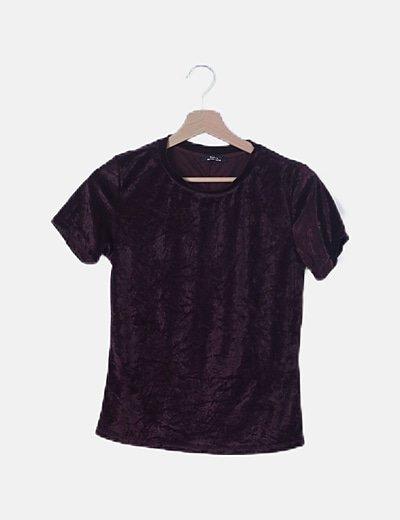 Camiseta velvet burdeos