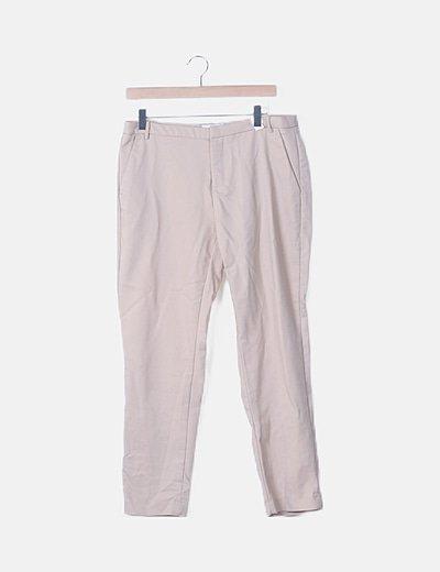 Pantalón pinzas beige