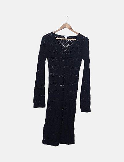 Jersey maxi tricot negro