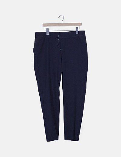 Pantalón azul marino corte recto