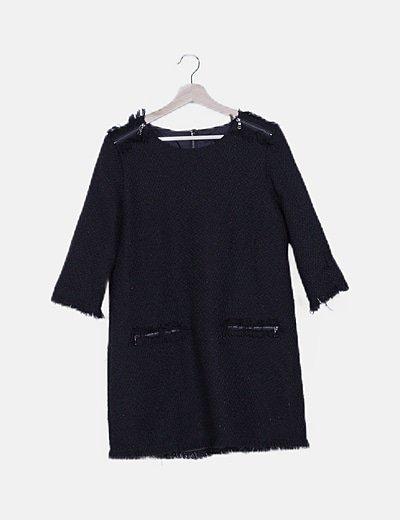 Vestido tweed negro