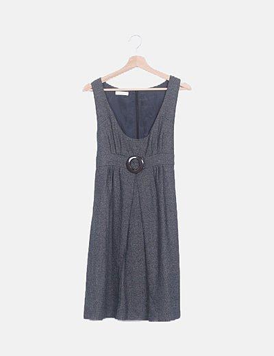 Vestido gris marengo estampado