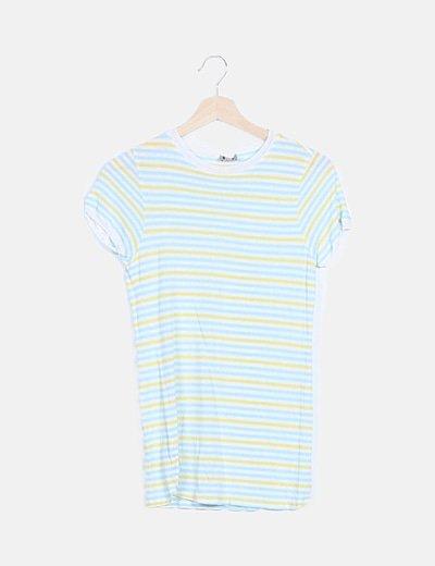 Camiseta hilo rayas tricolor