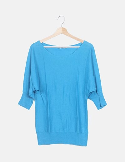 Jersey básico azul