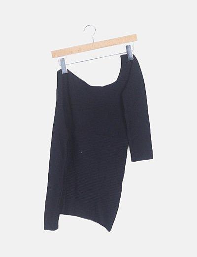 Suéter asimétrico negro