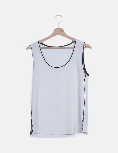 Camiseta texturizada blanca