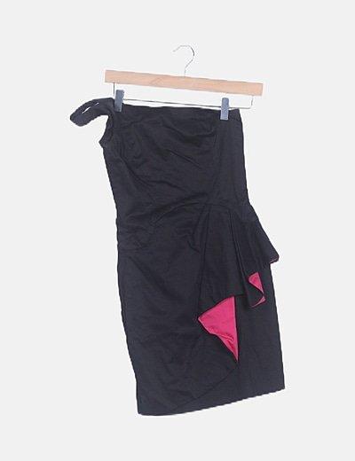 Vestido azimétrico negro