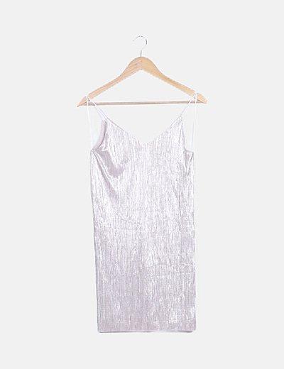 Vestido mini tirantes glitter