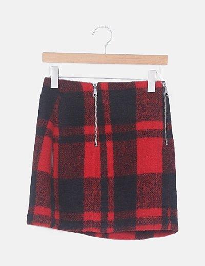 Falda mini paño bicolor