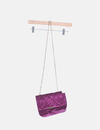 Bolso de hombro terciopelo púrpura