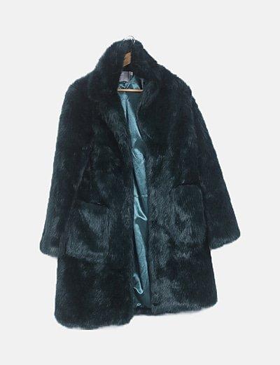 Abrigo largo pelo verde