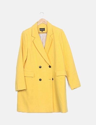 Abrigo paño amarillo