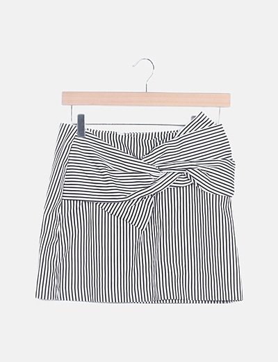 Falda mini rayas negras