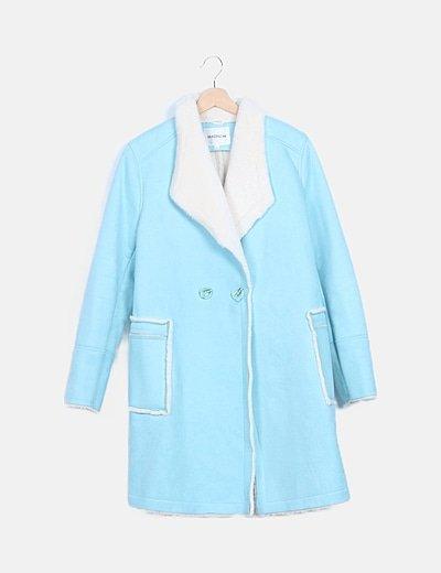 Abrigo azul doble faz