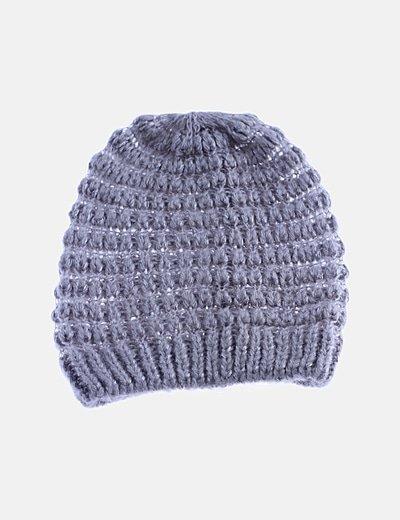 Gorro tricot gris glitter