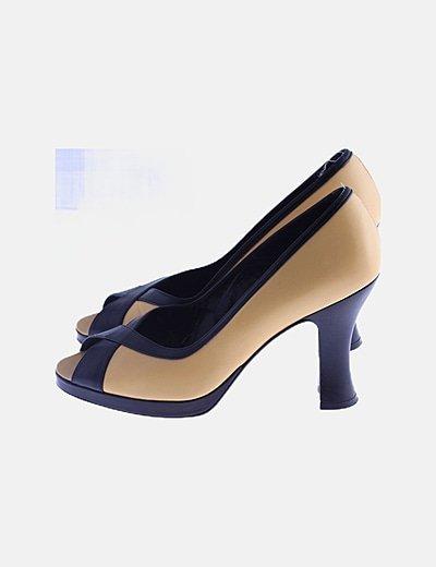 Zapatos peep toe bicolor