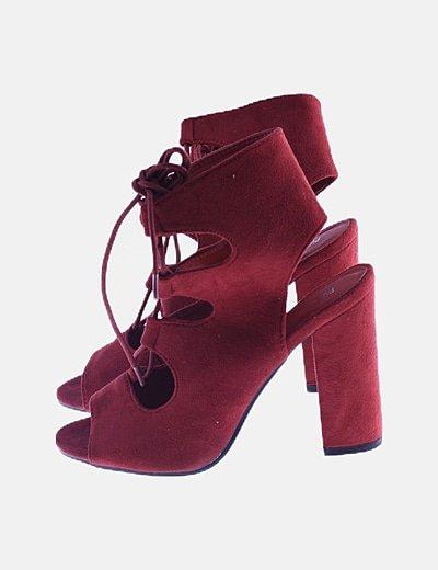 Zapatos burdeos lace up