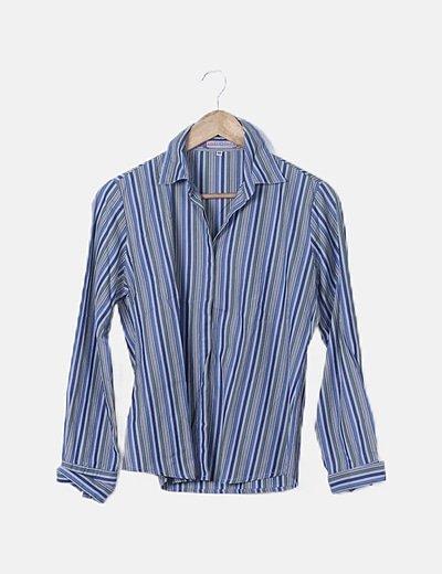 Camisa de rayas tricolor