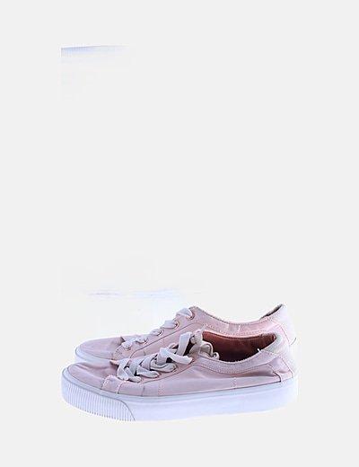Zapatillas rosas tela