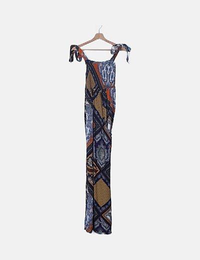 Maxi vestido estampado multicolor