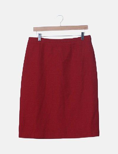 Falda roja fluida