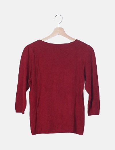Jersey básico rojo media manga