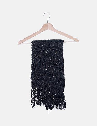 Bufanda negra glitter