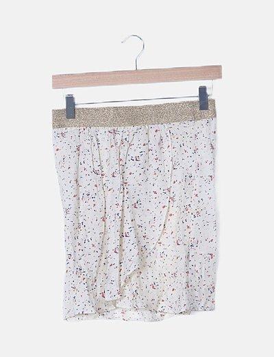 Mini falda beige moteada glitter