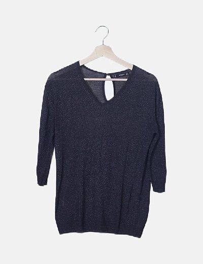 Jersey tricot gris glitter