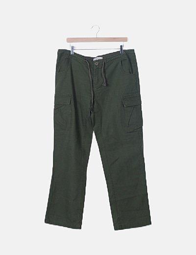 Pantalón baggy verde