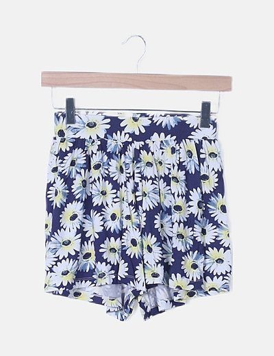 Short azul marino floral